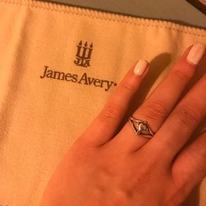 James Avery cross with heart ring